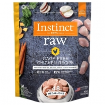 61145 INSTINCT Raw Dog Chicken Medallions 1.36kg