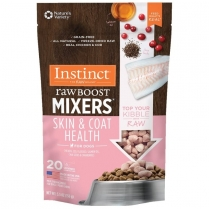 61722 INSTINCT Dog Raw Boost Mixers Skin & Coat Health 156g