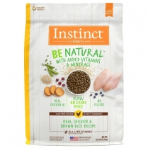 61828 INSTINCT Dog Be Natural Chicken & Brown Rice 11.36kg