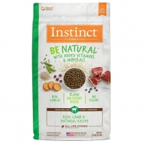 61829 INSTINCT Dog Be Natural Lamb & Oatmeal 2.04kg