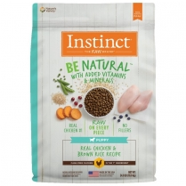 61835 INSTINCT Puppy Be Natural Real Chicken & Brown Rice 10.9kg