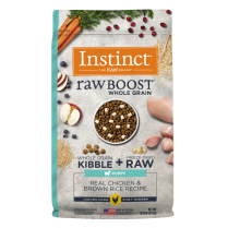 61840 INSTINCT Puppy Raw Boost WG Real Chicken & Brown Rice 9.1kg