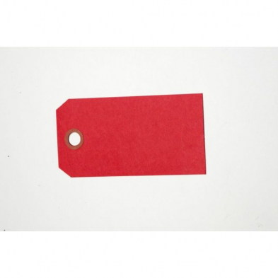 "PLNREDTAG TAGS, SHIPPING, PLAIN RED 2""X4"" SIZE #4"