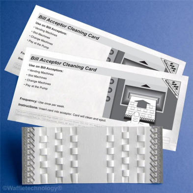 WAFFLECARDS BILL ACCEPTOR CLEANING CARD