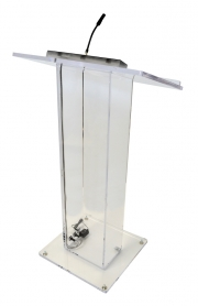 Column Acrylic Lectern with AV Connections
