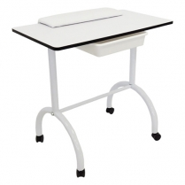 F-FF-DES-UNB-011 Manicure Table on Wheels with Drawer & Arm Rest EXPRESS