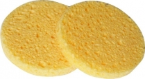 N-BE-SPG-UNB-003 Cellulose Facial Sponges - pack of 2