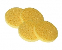 N-BE-SPG-UNB-004 Cellulose Facial Sponges - pack of 4