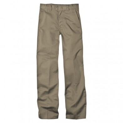 Dickies Boy's Classic Straight Fit Flexwaist Flat Front Pant with Logo