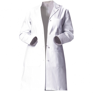 "Fashion Seal Ladies' Heavyweight Twill 39"" Lab Coat - 3 Pocket / Knot Button / 2-Pc Back Belt / Modern Fit"