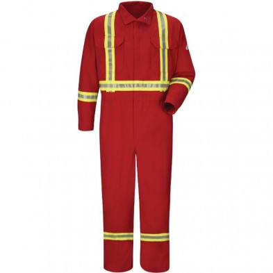 Bulwark Premium Coverall with CSA Compliant Reflective Trim - Nomex IIIA