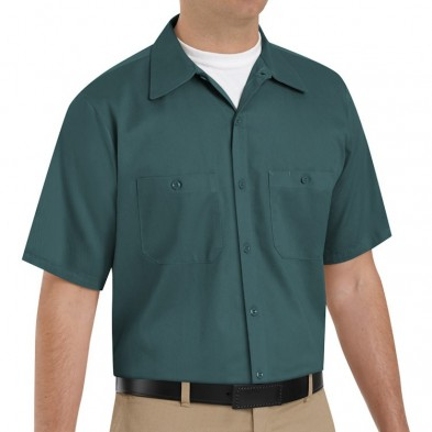 Red Kap Men's Wrinkle Resistant Cotton Short Sleeve Work Shirt