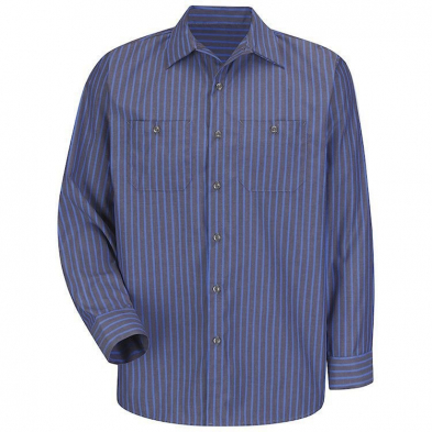 Universal Overall 65% Polyester/35% Cotton Striped Long Sleeve Shirt