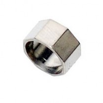 16252 VIOLA BOW RING, PURE SILVER