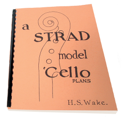 327 STRAD MODEL CELLO PLANS H.S. WAKE