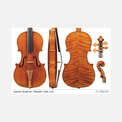 "3346 ANTONIO STRADIVARI ""MESSIAH"" 1716 VIOLIN POSTER"