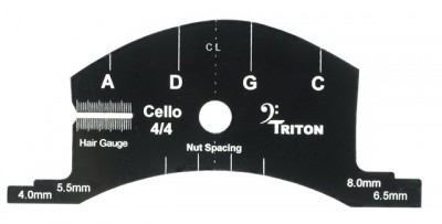 Multifunction Bridge Template, Cello