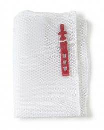 HSK18X30-CH-530RC-WHT Mesh Bag,White W/Name Tag, Heavyweight 18x30  600EA/CS