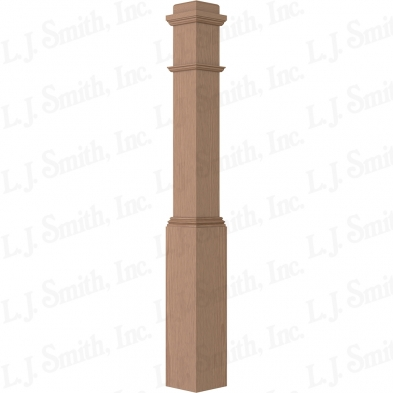 4091-WO BOX NEWEL 6 1/4 X 55