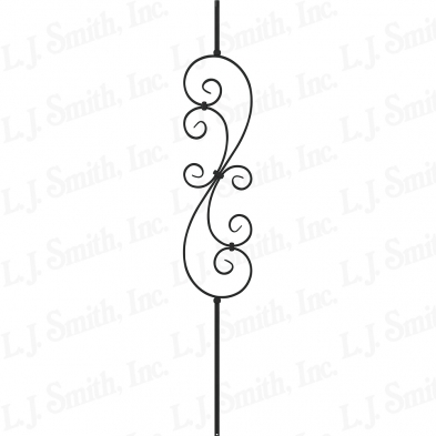 LIH-HOL30144-SB 1/2X44 HOLLOW LARGE SCROLL