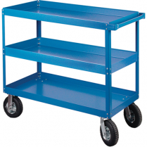 MHI-MB490 KNOCKED-DOWN SHELF CARTS - 3-SHELF UTILITY TRUCKS