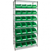 MHL-RL817 HEAVY-DUTY WIRE SHELVING UNITS WITH STORAGE BINS
