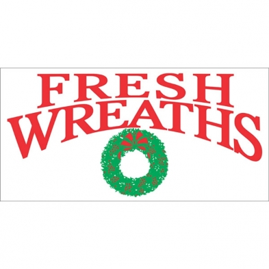 225-SGN-1108 Banner - 3' x 6' Fresh Wreaths