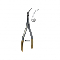 DA-10 BMT GD - Fragment forcep, curved, with diamond tip, 13cm