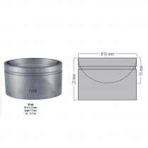 SS-66 BMT GD - Amalgam pot, o 35mm, 15mm depth, 25mm