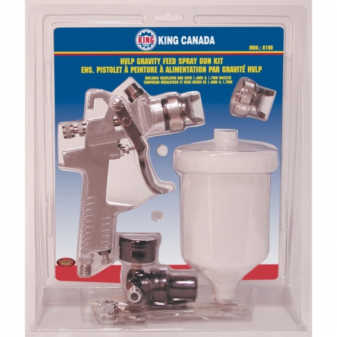 8190 HVLP GRAVITY FEED SPRAY GUN KIT