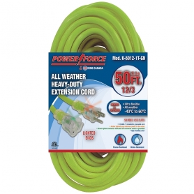 K-5012-1T-GN 50' 12/3 SINGLE TAP EXTENSION CORD- GREEN