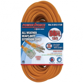 K-5012-1T-OR 50' 12/3 SINGLE TAP EXTENSION CORD- ORANGE