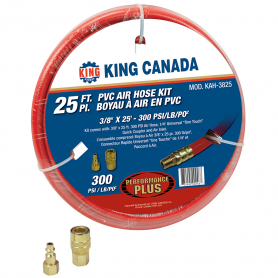 "KAH-3825 3/8"" X 25' PVC REINFORCED AIR HOSE KIT"