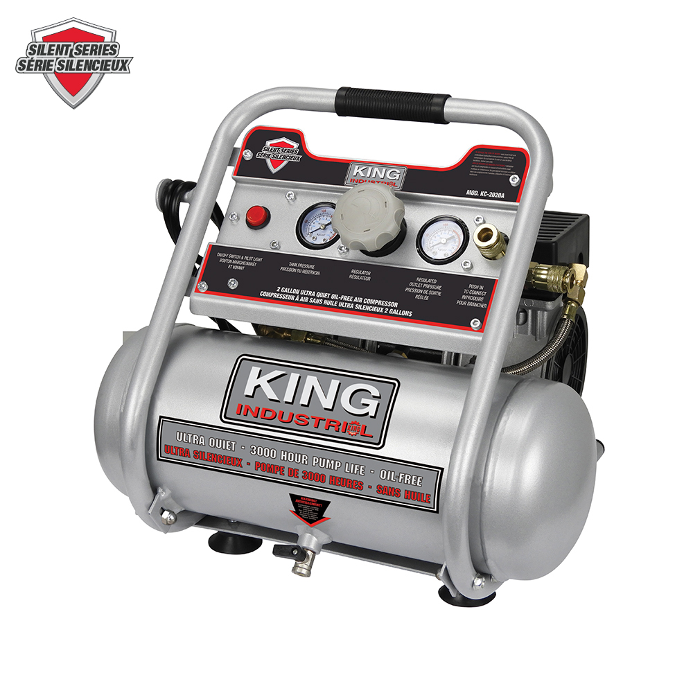 2 Gallon Oil Free Air Compressor King Canada Power Tools Woodworking And Metalworking Machines By King Canada