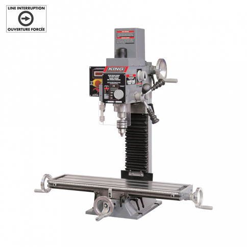 KC-20VS-2 MILLING DRILLING MACHINE WITH DIGITAL READOUTS