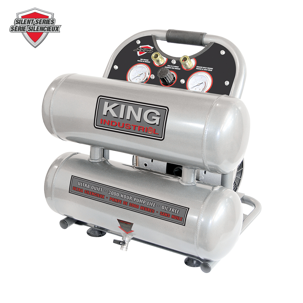 Ultra Quiet Oil Free Air Compressor King Canada Power Tools Woodworking And Metalworking Machines By King Canada