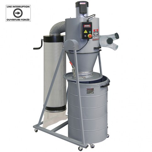 KC-6300C 3 HP CYCLONE DUST COLLECTOR