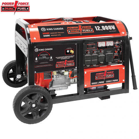 KCG-12001GE-DF 12000W GASOLINE/PROPANE GENERATOR WITH ELECTRIC START