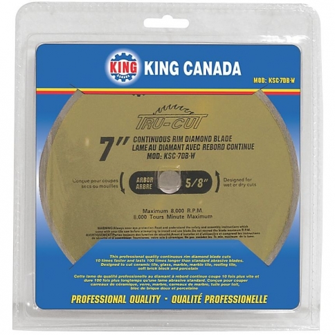 "KSC-7DB-W 7"" REPLACEMENT WET TYPE DIAMOND BLADE"