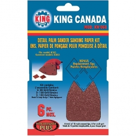 KW-068 6 PC. DETAIL PALM SANDER SANDING PAPER KIT