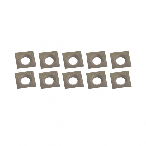 KW-104 10 PC. CARBIDE CUTTER INSERTS KIT (15MM X 15MM X 2.5MM)