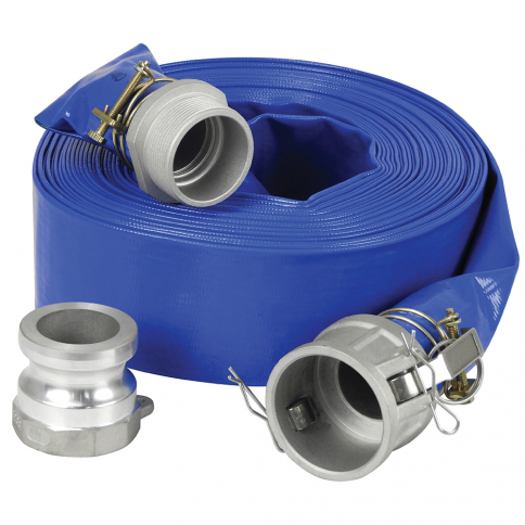 "KW-503 3"" X 50' PVC DISCHARGE HOSE KIT FOR WATER PUMP"