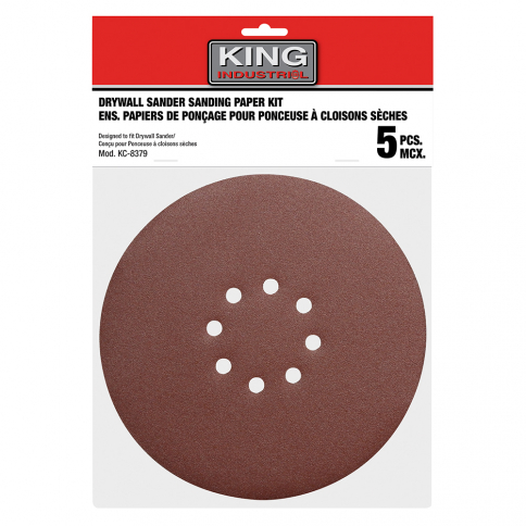 "SD-878-K-120 5 PC. 8-7/8"" -120 GRIT SANDING PAPER KIT"