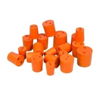 Rubber Stopper - 2 Hole - 10PK