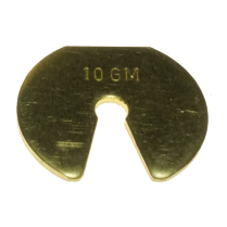 082302-0002 Weights Brass Slotted, 10g Mass Only IEC Brand