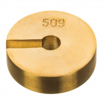 082302-0005 Weights Brass Slotted, 50g Mass Only