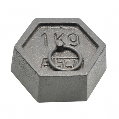 082308-0100 Weight Hexagonal, Mass with Ring 100g