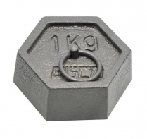 082308-1000 Weight Hexagonal, Mass with Ring 1000g