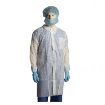 100349-0003 Labcoat, Disposable, White - Large