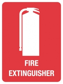 100605-0007 Fire Extinguisher, Fire Extinguisher Sign